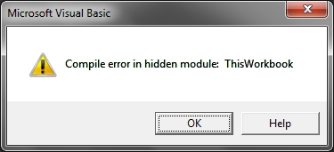 Compile error in hidden module: ThisWorkbook